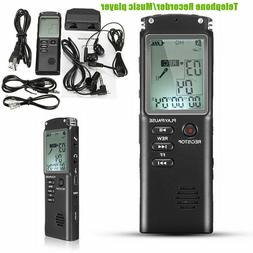 16GB Digital Audio/Sound/Voice Recorder Pocket Dictaphone Cl