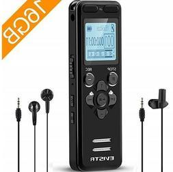 EVISTR 16GB Digital Voice Recorder + Hard Case + SanDisk 32G