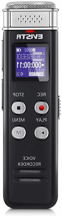 EVISTR 16GB Digital Voice Recorder L157 Voice Activated USB