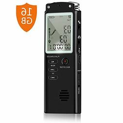 16GB Digital Voice Recorder Voice Activated Recorder Playbac