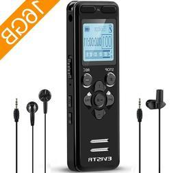 Evistr 16Gb Digital Voice Reorder Line In - Portable Recorde