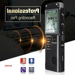 16gb rechargeable lcd digital audio sound voice
