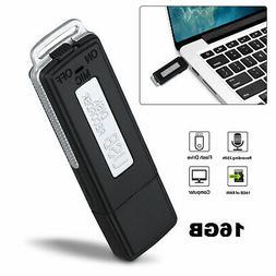16GB Rechargeable Mini USB Voice Digital Recorder & USB Flas