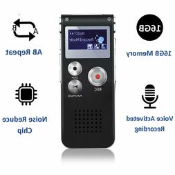 16GB Voice Activated Mini Dictaphone Spy Digital Sound Audio