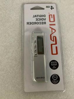 2 CRAIG DIGITAL VOICE RECORDER 4GB LCD DISPLAY 140 Hrs RECOR