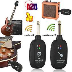 UHF Guitar Wireless System Transmitter Receiver Built-in Rec