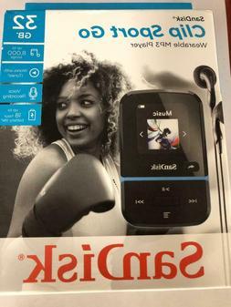 SanDisk 32GB Clip Sport Go Wearable MP3 Player, Blue #SDMX30