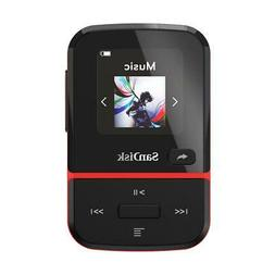 SanDisk 32GB Clip Sport Go Wearable MP3 Player, Red #SDMX30-