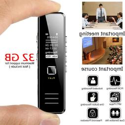 32GB Rechargeable Digital Audio/Sound/Voice Recorder Dictaph