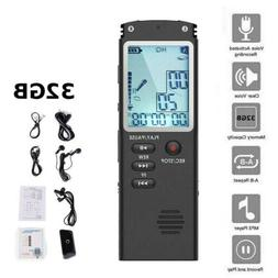 32gb rechargeable digital lcd audio sound voice