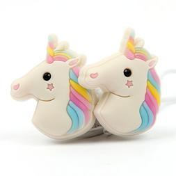 3d ear colourful unicorn headset