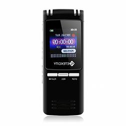 Etekcity 8GB 560Hours Digital Voice Recorder & MP3 Music Pla