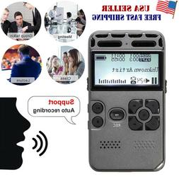 64G Rechargeable LCD Digital Audio Sound Voice Recorder Dict