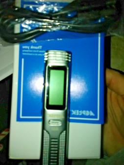 8 gb lcd voice activated digital voice