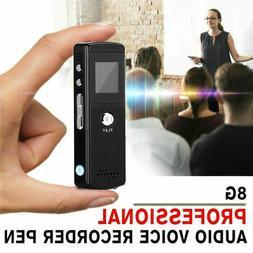 8G Voice Activated Mini Digital Sound Audio Recorder Dictaph