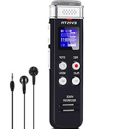 8GB Digital Voice Recorder Voice Activated Recorder Playback