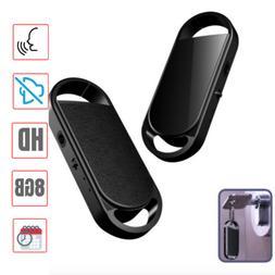 8GB Mini Audio Recorder Keychain Spy Voice Activated Listeni