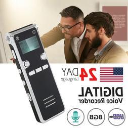 8GB Mini Digital Voice Recorder Dictaphone Audio Sound Recor