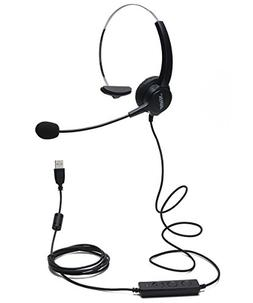 AGPtEK Hands-Free Call Center Noise Cancelling Corded Monaur