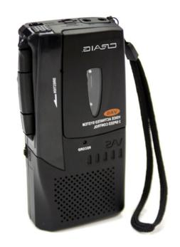 Craig Micro Cassette Voice Recorder with LED Recording Indic
