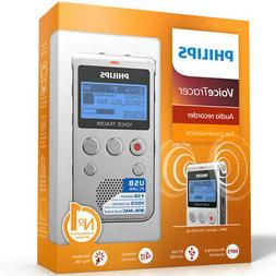 Philips - Voice Tracer Audio Recorder - Warm silver and blac