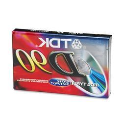 TDK Audio Cassette, Standard Size, Normal Bias, 90 Minutes