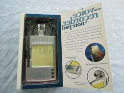Perfect Solutions / Auto Voice Recorder and Note Pad / Model