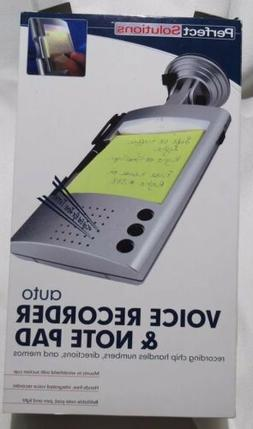Perfect solutions Auto Voice Recorder & Note Pad New In Box!