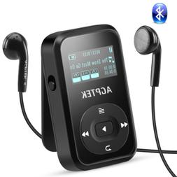 AGPTEK MP3 Player Bluetooth 4.0 Clip FM Radio Portable HIFI