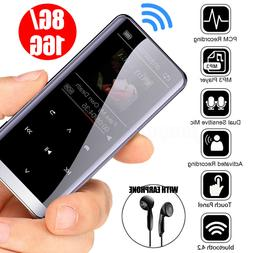 bluetooth MP3 Player 16GB HIFI Sports Music MP4 Players FM R