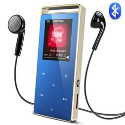 AGPTEK Bluetooth MP3 Player 8GB Lossless with FM/ Voice Reco