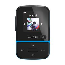 SanDisk Clip Sport Go 16GB Blue MP3 Player LCD screen FM RAD