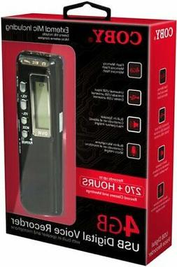 Coby CVR-20 USB Digital Voice Recorder with Built-in Mic, Vo