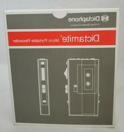 Dictaphone Dictamite Model 3243 Microcassette Portable Voice