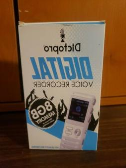 DICTOPRO 8GB DIGITAL VOICE RECORDER X000WO1KGD MP3 / WAV BY