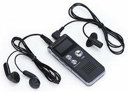 Digital Audio Voice Sound Recorder MP3 Player 8GB 650 hr Rec