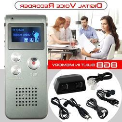 Digital Portable Voice Recorder 8GB Dictaphone Audio Recorde