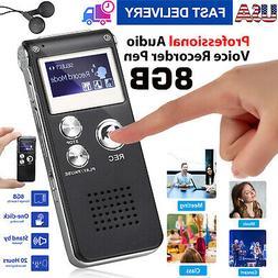 Digital Sound Audio Recorder Voice Activated Mini Spy Dictap