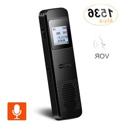 digital voice activated recorder 8gb dictaphone stereo