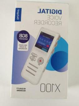 Digital Voice Activated Recorder by Dictopro- Easy HD Record