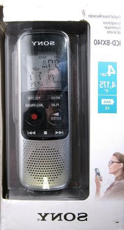 SONY Digital Voice Recorder 4GB Model ICD-BX140  >NEW<