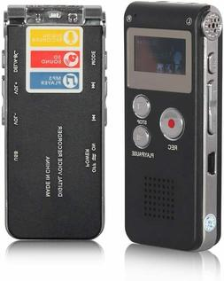 Digital Voice Recorder 8GB, Audio Voice Activated MP3 Player