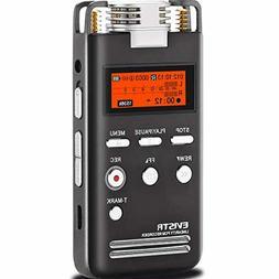 EVISTR Digital Voice Recorder 8GB L53 - 1536KPBS PCM Stereo