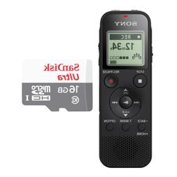 Sony Digital Voice Recorder with Built-in USB and 16GB Micro