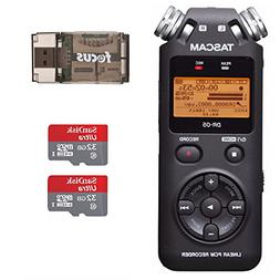 Tascam DR-05 Portable Digital Recorder w/ 2 SanDisk 32GB Car