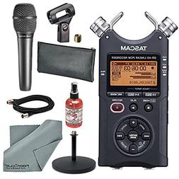 Tascam DR-40 4-Track Handheld Digital Audio Recorder with Ha