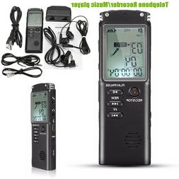Genius Voice Recorder Digital 16GB Audio Clear Voice Recordi