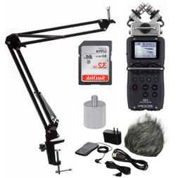 Zoom H5 Handy Recorder with Accessory Pack, Knox Suspension