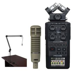 Zoom H6 Recorder Podcast Kit with Electro-Voice RE20 Microph