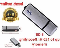 Hidden Voice Active Recorder USB Spy Audio Secret 120Hr reco
